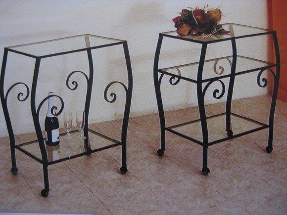 Carrelli bar angoliere etageri e carrelli in ferro arte - Porta tv ferro battuto ...