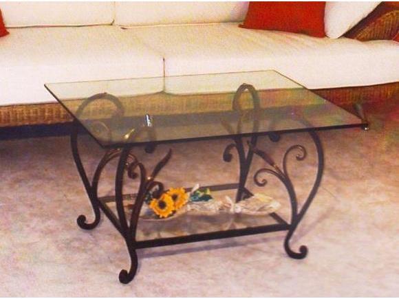 Tavolo firenze tavoli e tavolini in ferro arte e stile - Tavolo ferro battuto e vetro ...