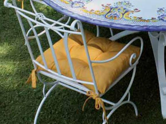 Sedie In Ferro Battuto Da Esterno.Cuscini Top Per Sedie Tavoli E Sedie Da Esterno Arte E Stile
