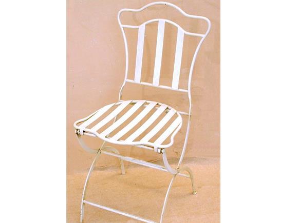 Sedie In Ferro Battuto Pieghevoli : Sedia pieghevole bo0130406 sedie e panchette in ferro arte e stile