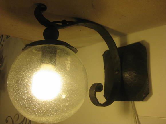 Applique palla lampadari in ferro battuto arte e stile - Lampadari da interno ...