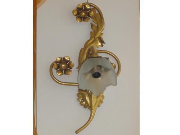 Applique oro foglia lampadari in ferro battuto arte e stile