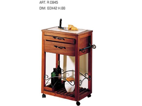 Carrello da cucina R0845, Cantinette e Carrelli in Legno - Arte e Stile
