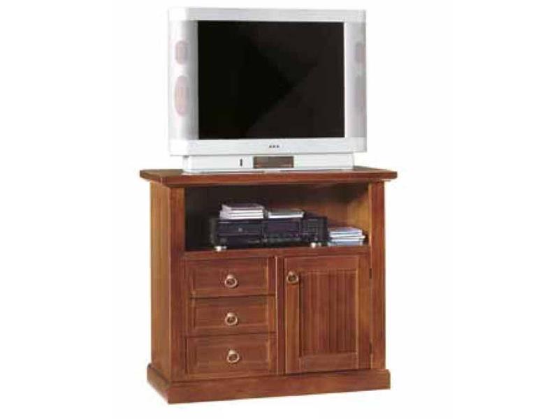 Portatelevisori In Legno.Porta Tv In Legno Tinta Noce Art Tt378