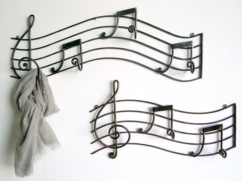 Appendiabiti in ferro Milano Note musicali, Attaccapanni e ...