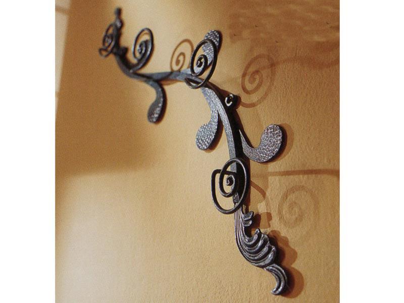 Attaccapanni a parete n119 attaccapanni e portachiavi in for Complementi d arredo ferro battuto