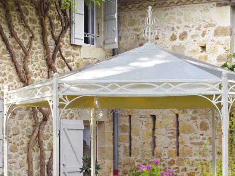 Gazebo marte esagonale gazebi in ferro battuto arte e stile for Gazebo in stile francese