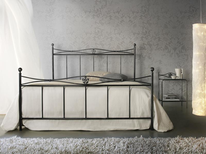 Letto albatros matrimoniale letti in ferro battuto arte - Pediera del letto ...