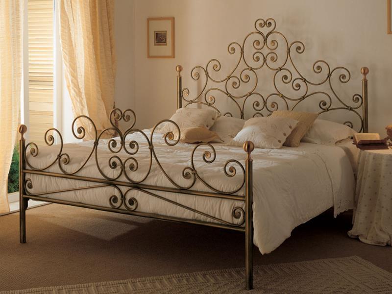 Letto mimosa matrimoniale letti in ferro battuto arte e - Pediera del letto ...