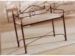 Panche In Ferro Battuto.Sedie E Panchette In Ferro Arte Stile
