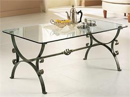 Tavolo Cristallo Ferro Battuto.Tavoli E Tavolini In Ferro Battuto Arte Stile