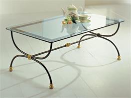 Tavolini Da Salotto In Ferro Battuto E Cristallo.Tavoli E Tavolini In Ferro Battuto Arte Stile