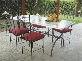Tavoli E Sedie In Ferro Battuto Da Giardino.Tavoli E Sedie Da Esterno In Ferro Battuto Arte Stile